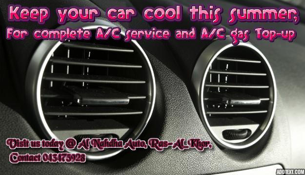 Air Conditioning Service Al Nahdha Auto Garage