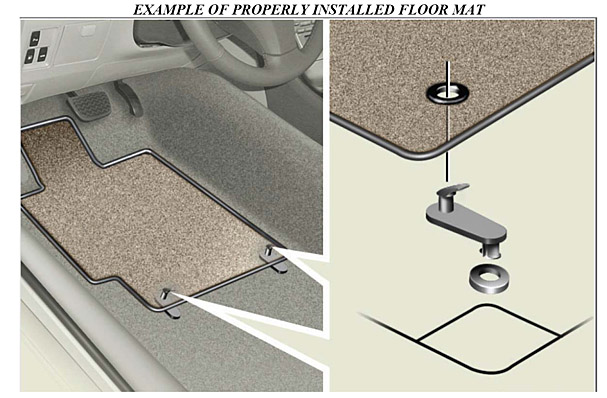 safe floor mat use in vehicles